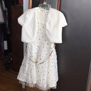 Beautiful white party dress! New with tags!